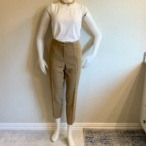 AKRIS Tan Wool High Waist Ankle Pants Sz 42/US12